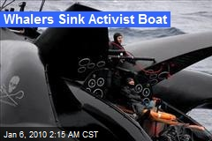 Whalers Sink Activist Boat