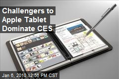 Challengers to Apple Tablet Dominate CES