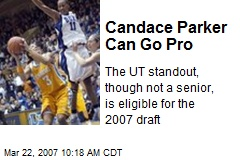 Candace Parker Can Go Pro