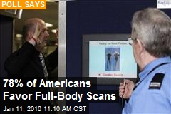 78% of Americans Favor Full-Body Scans