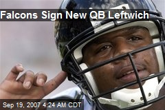 Falcons Sign New QB Leftwich