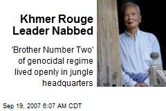 Khmer Rouge Leader Nabbed