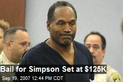 Bail for Simpson Set at $125K