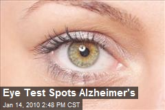 Eye Test Spots Alzheimer's