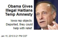 Obama Gives Illegal Haitians Temp Amnesty