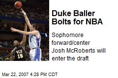 Duke Baller Bolts for NBA