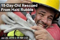15-Day-Old Rescued From Haiti Rubble