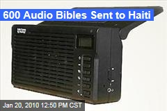 600 Audio Bibles Sent to Haiti