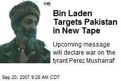 Bin Laden Targets Pakistan in New Tape