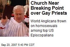 Church Near Breaking Point over Gay Priests