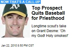 Top Prospect Quits Baseball for Priesthood
