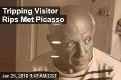 Tripping Visitor Rips Met Picasso