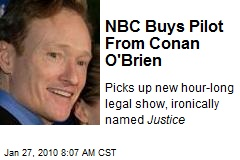 NBC Buys Pilot From Conan O'Brien