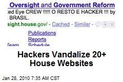 Hackers Vandalize 20+ House Websites