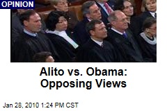 Alito vs. Obama: Opposing Views