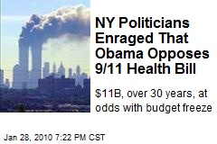 NY Politicians Enraged That Obama Opposes 9/11 Health Bill