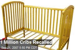 1 Million Cribs Recalled
