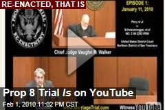 Prop 8 Trial Is on YouTube