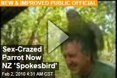 Sex-Crazed Parrot Now NZ 'Spokesbird'