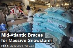 Mid-Atlantic Braces for Massive Snowstorm