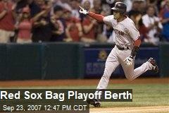 Red Sox Bag Playoff Berth