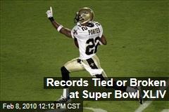 Records Tied or Broken at Super Bowl XLIV