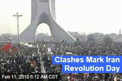 Clashes Mark Iran Revolution Day