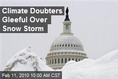 Climate Doubters Gleeful Over Snow Storm