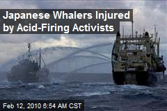 Japanese Whalers Injured by Acid-Firing Activists