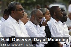 Haiti Observes Day of Mourning