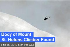 Body of Mount St. Helens Climber Found