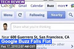 Google Buzz Falls Flat