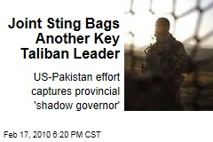 Joint Sting Bags Another Key Taliban Leader