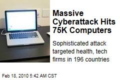 Massive Cyberattack Hits 75K Computers