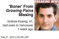 'Boner' From Growing Pains Missing
