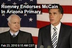 Romney Endorses McCain In Arizona Primary