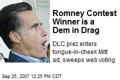Romney Contest Winner is a Dem in Drag