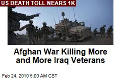 Afghan War Killing More and More Iraq Veterans