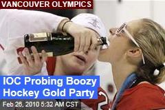 IOC Probing Boozy Hockey Gold Party