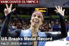 US Breaks Medal Record