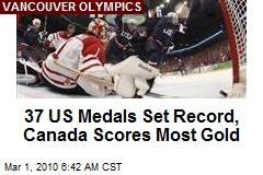 37 US Medals Set Record, Canada Scores Most Gold