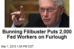 Bunning Filibuster Puts 2,000 Fed Workers on Furlough