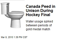 Canada Peed in Unison During Hockey Final