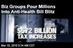 Biz Groups Pour Millions Into Anti-Health Bill Blitz