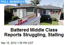 Battered Middle Class Reports Struggling, Stalling