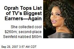 Oprah Tops List of TV's Biggest Earners—Again