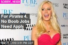 For Pirates 4, No Boob Jobs Need Apply