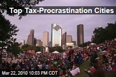 Top Tax-Procrastination Cities