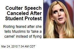 Coulter Speech Canceled After Student Protest