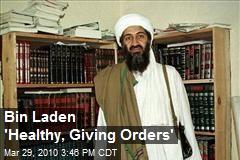 Bin Laden 'Healthy, Giving Orders'